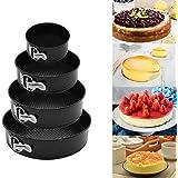 Springform Round Cake Pan Set|Release Latch/Removable Bottom|Premium Detachable Bakeware Cheesecake Pans| Non-Stick/Scratch-R