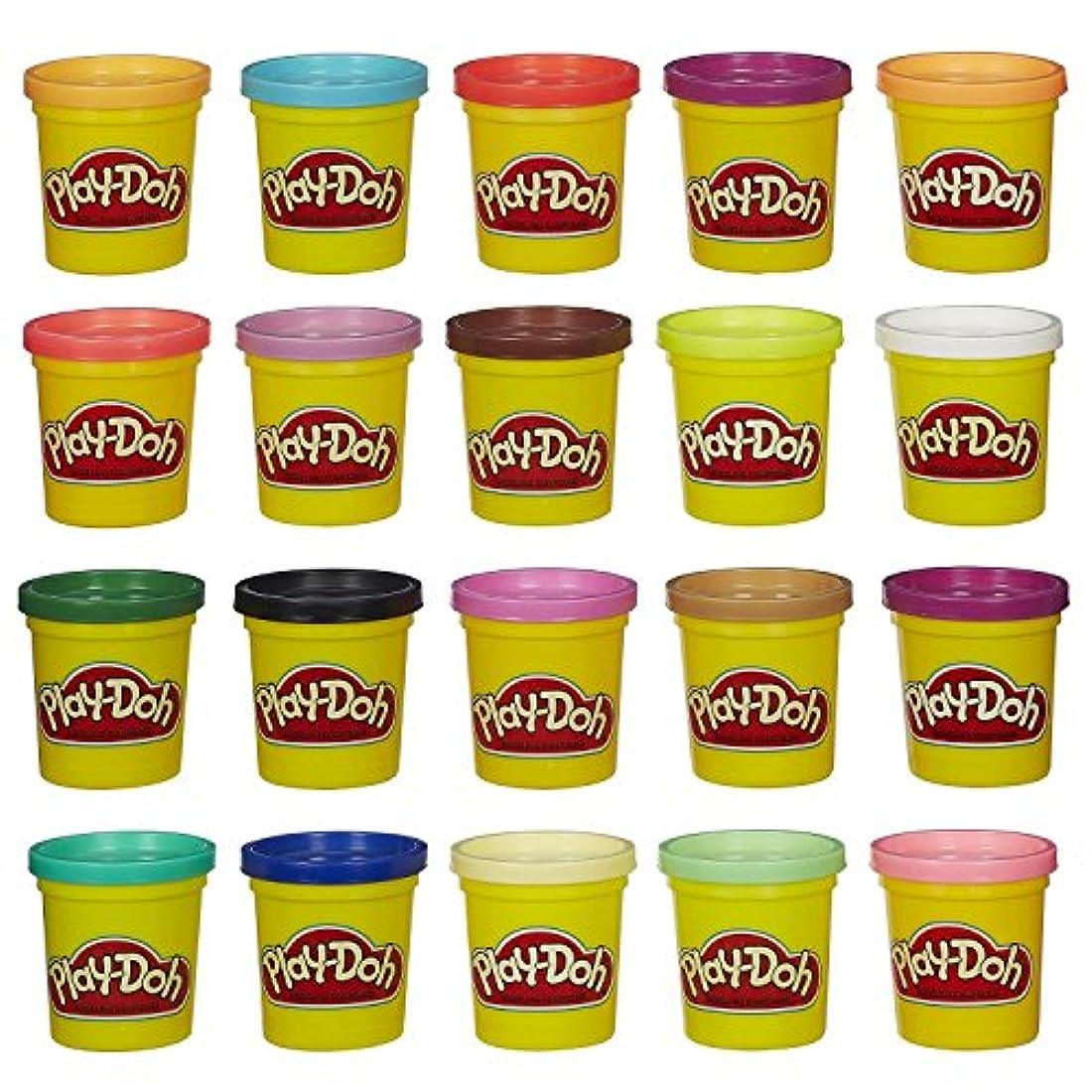 珍しい振動させる改善プレイドー Play-doh 小麦ねんどスーパーカラーパック20色セット [並行輸入品]