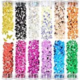 Fding 12 Colors 3D Butterfly Nail Glitter Sequins Paillette Holographic Glitter Flakes Tips Decoration for Cosmetic Face Eyes Body