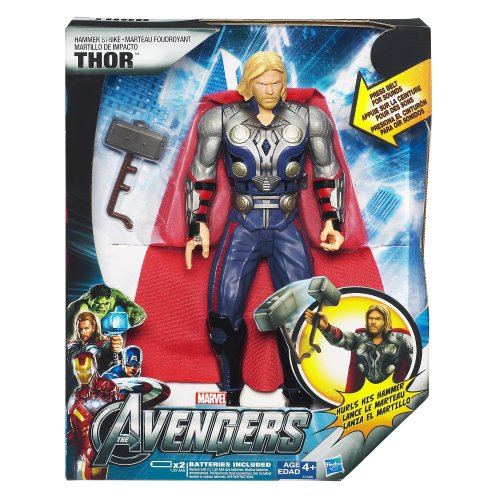 大迫力!映画「アベンジャーズ」より マイティ・ソー アクションフィギュア ハンマーストライク Avengers Strike Hammer Mighty Thor Figure プレゼント 贈り物 ギフト 自分へのご褒美に☆【並行輸入】日本未発売
