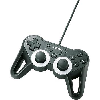 【2010年モデル】エレコム ゲームパッド USB接続 12ボタンアナログスティック搭載 振動/連射 高耐久 【ファイナルファンタジーXIV: 新生エオルゼア推奨】 ブラック JC-U3312SBK