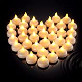 36 Pieces Flameless Floating Candles Waterproof Floating Tealights Candles Warm White Led Flickering Candles Decor for Weddin