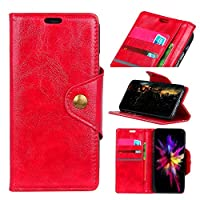 LG X Power 3 財布 シェル LG X Power 3 シェル,プレミアム Mrstar 設計 PU レザー & 柔らかい TPU ビルトイン カード/現金 スロットs,財布 シェル By Mrstar (Red)