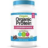 Orgain Organic Plant Based Protein + Superfoods Powder, Creamy Chocolate Fudge - Vegan, Non Dairy, Lactose Free, No Sugar Add