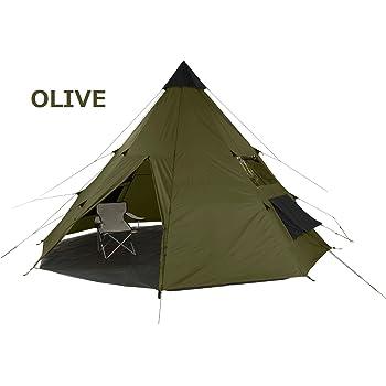tepee 602007 602018 軽くコンパクトサイズで伝統的なティピ型テント 8人用