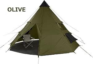 tepee 602007 602018 軽くコンパクトサイズで伝統的なティピ型テント 8人用 (オリーブ)