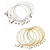 Liyafy A Sets of 16 Lyre Harp Strings Replacement Metal String for Lyre Harp