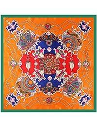 女性の女の子のためのスカーフ90 * 90センチメートルスクエアスカーフを印刷