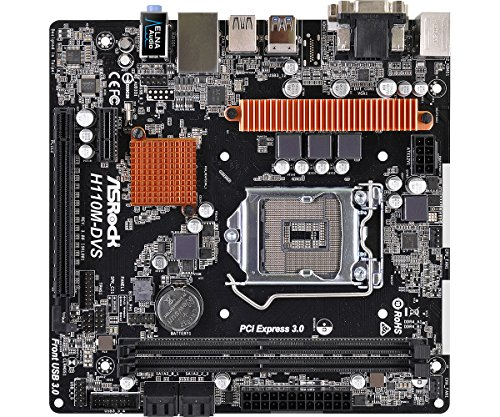 ASRock Intel H110搭載 Micro ATX マザーボード H110M-DVS R3.0
