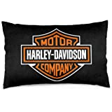 "Lovesofun Soft Pillow Covers Harley David-Son Cushion Cases Pillowcases for Sofa Bedroom Without Pillow Insert 20""x30"""