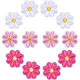 WATASHINO ワッペン アイロン アップリケ 花 2cm 12枚セット 女の子 子供 小さい 刺繍 かわいい (MIX①)