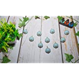 Maviss Homes Handcrafted Assorted Sky Blue Knobs Floral Handles Ceramic Cabinet Pulls Mix Vintage Combo Designer Gift