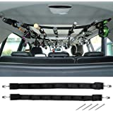 Dr.Fish Vehicle Fishing 7 Rod Reel Combos Holder Heavy Duty Car Rod Saver Metal Clamp Fishing Pole Rack Belt Strap Carrier fo