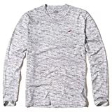 (ホリスター)Hollister メンズ ロングTシャツ ( ロンT ) TEXTURED CREW ICON T-SHIRT [並行輸入品]