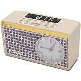 Byron Statics Clock Radio FM Radio Digital Alarm Clock Sleep Timer Dimmer Preset Station Retro Clock Snooze Function Heavy Sl