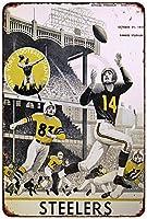 1956スティーラーズvsニューヨーク・ジャイアンツVintage Reproduction Metal Sign 8x 12