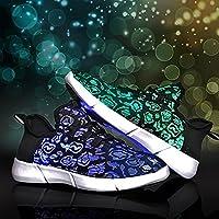 [zhaolian8888] 発光シューズ スニーカー USB充電 光る靴 スポーツシューズ LEDシューズ 男女通用 LED靴 軽量 防水 レディース メンズ 男の子
