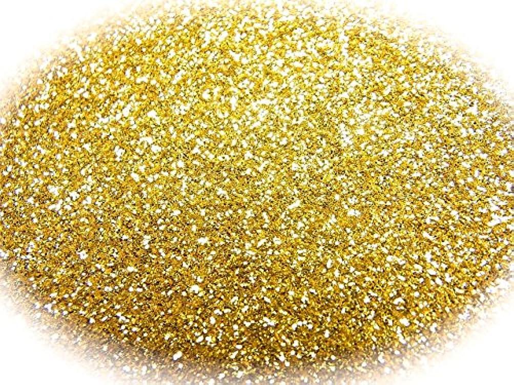 ハードリング実際の地味なグリッターラメパウダー 選べる12色 0.5g 瓶入り (ゴールド)