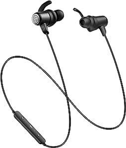 SoundPEATS(サウンドピーツ) Q35Pro Bluetooth イヤホン AAC & APT-Xコーデック対応 高音質・低遅延 10MMドライバー採用 8時間連続再生 IPX6防水 マグネット内蔵 ハンズフリー通話 CVC6.0 ノイズキャンセリング搭載 Bluetooth 4.1 スポーツ イヤホン ブルートゥース イヤホン 両耳 ワイヤレス ヘッドホン [メーカー1年保証] (ブラック)