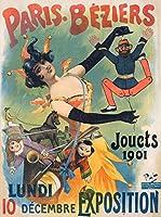 パリ–Beziers–Jouets 1901年ヴィンテージポスター(アーティスト: Paleologue )フランスC。1900 9 x 12 Art Print LANT-58529-9x12