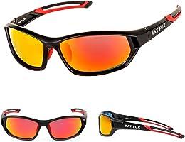 BATFOX Polarized Sports Sunglasses, Hd Lens,Built-In Comfortable Silicon Leg For Men Women Baseball Running Cycling...