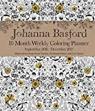 Johanna Basford 2016-2017 16-Month Coloring Weekly Planner Calendar