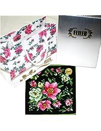 (フェイラー)FEILER 【フェイラーギフトBOX包装でお届け】クリスマスローズ ハンカチ ブラック 25cm