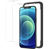 NIMASO ガラスフィルム iPhone12 / iPhone12Pro 用 強化 ガラス 保護 フィルム ガイド枠付…