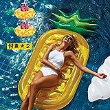 大き 190cm パイナップル浮き輪 大人用 フルーツ 浮きプール フロート 海 浮き輪 ビーチグッズ ビーチマット ビーチボード プール海フロート パイナップル