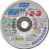 NORTON MULTI マルチ 1-2-3 多目的/切断・研削・研磨砥石 100mm【1枚入】