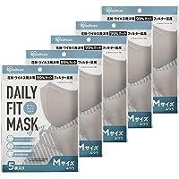 【5個セット】アイリスオーヤマ マスク 不織布 カラーマスク 立体 個包装 DAILY FIT MASK ふつうサイズ…