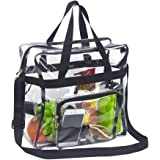 Magicbags Clear Tote Bag Stadium Approved,Adjustable Shoulder Strap and Zippered Top,Stadium Security Travel & Gym Clear Bag,
