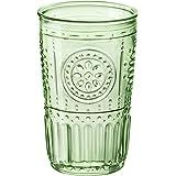 Bormioli Rocco 335944GRS021524 Romantic Cooler Glass, Set of 4, 16 oz, Pastel Green
