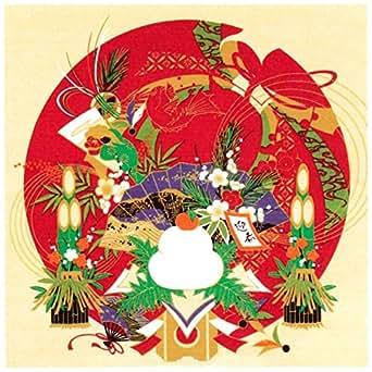 風呂敷 綿シャンタン 50㎝ 小風呂敷 ( ふろしき )54-1 彩時記「お正月」 日本製 通販 ギフトに。