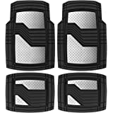 Heavy Duty Rubber Floor Mats for Car SUV Truck & Van-All Weather Protection, Front & Rear with Heelpad & Anti-Slip Nibs Backi