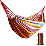 winemana Outdoor Garden 2 Person Cotton Hammock, 450lbs Ultralight Camping Hammock (Red)