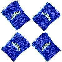COOLOMG リストバンド 手首 タオル 無地 刺繍 汗拭き よく伸びる テニス バスケ 野球に適用 フリーサイズ 4個1組