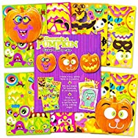 Pumpkin Decorating Stickers Set -- Over 400 Halloween Jack O Lantern Stickers (8 Decorate a Pumpkin Sticker Sheets,64 Coloring Pages) [並行輸入品]