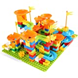 Marble Race Run Building Blocks Construction Toys Educational Boy Preschool Kids (320PC Marble Run + Base)