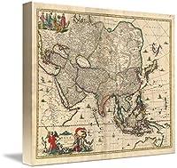"""「アジアのヴィンテージマップ( 1689)壁アートプリントby alleycatshirts @ Zazzle 29"""" x 24"""" 5906969_4_can"""