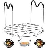Steamer Rack Trivet with Heat Resistant Handles Compatible with Instant Pot Accessories 6 Qt 8 Quart, Pressure Cooker Trivet