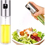 Lucky Star Olive Oil Sprayer Bottle, Stainless Steel Glass Oil Dispenser for Cooking, BBQ, Salad, Baking, Roasting, Kitchen T
