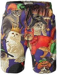 猫 キャラクター メンズ サーフパンツ 水陸両用 水着 海パン ビーチパンツ 短パン ショーツ ショートパンツ 大きいサイズ ハワイ風 アロハ 大人気 おしゃれ 通気 速乾