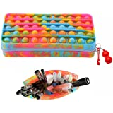 Push Pop Stationery Pencil Case Easy to Carry Large Capacity Creative Silicone Pop Bubble Fidget Toys & Pencil Makeup Pen Sto