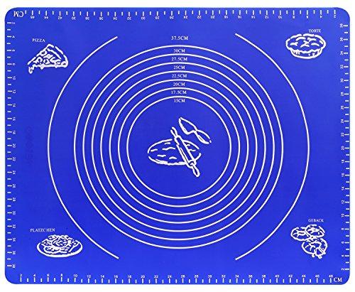 製菓マット - Nuovoware 高品質 食品級シリコン製 目盛り付き 手作り 製菓道具 シリコンマット クッキングマット 製菓マット BLUE