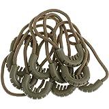 ノーブランド品 衣類/バッグ用 交換 ジッパー 引き コード ロープ エンド ロック ジッパー スライダー 10個 7種類選ぶ - 65mmアーミーグリーン