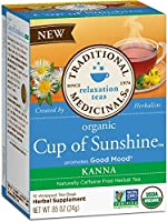 Traditional Medicinals Organic Cup of Sunshine Kanna Relaxtion Tea, 16 Tea Bags (Pack of 6)(並行輸入商品)
