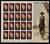 Gary Cooper: Legends of Hollywood, Full Sheet of 20 x 44-Cent Postage Stamps, USA 2009, Scott 4421 by USPS