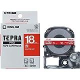 キングジム テープカートリッジ テプラPRO SD18R 18mm 赤/白文字