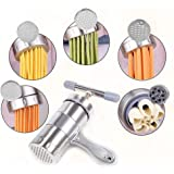 XIAN Manual Pasta Maker, Stainless Steel Pasta Maker Juice Squeezing Machine,for Make Different Thickness and Shape Noodles a